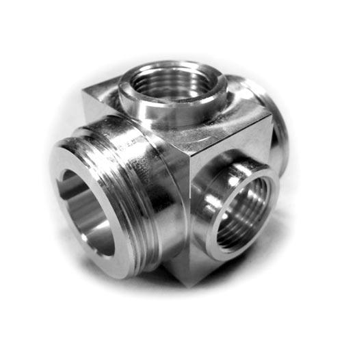 Stainless steel prototype with CNC machined