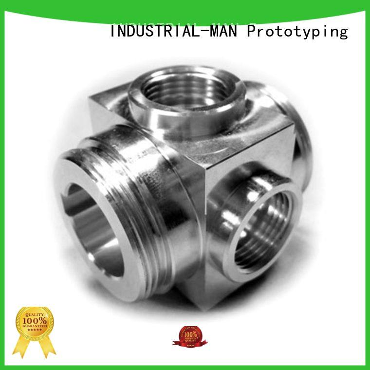 brass aluminum machining service high precision for cnc prototype INDUSTRIAL-MAN